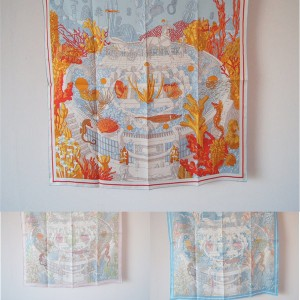 Hermes new silk scarf 90 cm double-sided square scarf