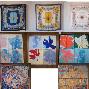 Hermes new silk scarf printed 90 cm double-sided square scarf