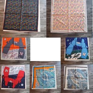 Hermes official website silk scarf print 57 cm bandana square