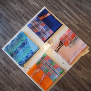 Hermes Fubao Love Silk Print 90cm Square Scarf