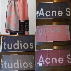 acne studio women's new Toronto logo logo jacquard scarf