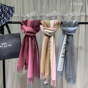 COACH official website striped big shawl classic logo scarf F76388