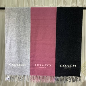 COACH Logo Unisex Double-sided Two-tone Warm Scarf F56209
