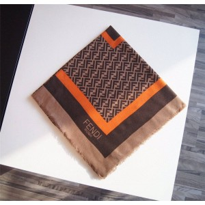 FENDI official website silk and cashmere FF pattern thin scarf