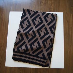 FENDI new FF classic pattern wool blend scarf FXT251