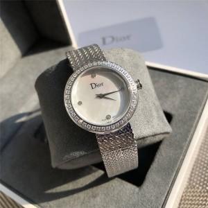 Ms. Dior inlaid diamonds LA MINI D DE DIOR SATINE watch CD040110
