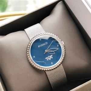 PINKO New Women's Watch Woven Strap Garland Bezel Quartz Watch