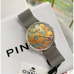 PINKO new print series magnetite buckle strap inlaid crystal quartz watch