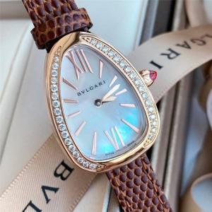 Bvlgari diamond SPP27C4PGL series quartz watch