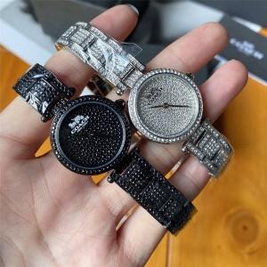 COACH PARK Parker series Swarovski crystal inlaid steel band quartz watch