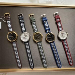 Versace V CIRCLE GRECA series men's quartz watch
