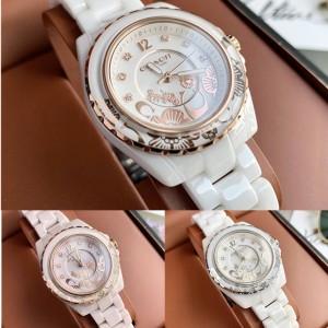 COACH Ladies PRESTON Series Camellia Ceramic Quartz Watch