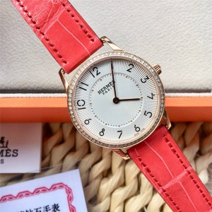 Hermes new Slim d' series quartz diamond watch