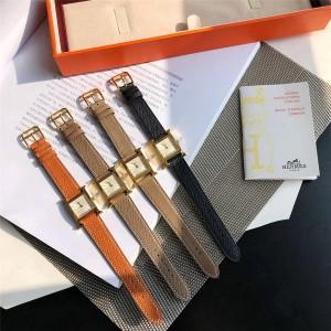 Hermes new gold ladies HEURE H quartz watch