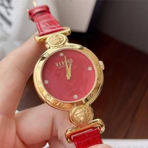 Versace official website fashion strap ladies quartz watch