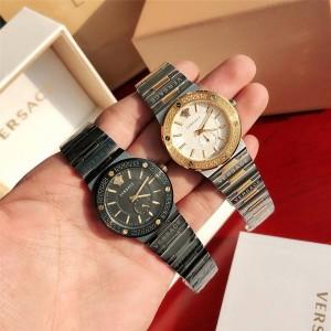 Versace official website ladies quartz GRECA LOGO watch