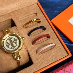 TORY BURCH TB REVA_CUFF Steel Strap Quartz Watch TBW4037