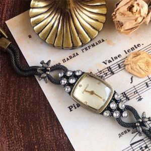 PINKO watch Swarovski crystal square dial vintage bracelet watch