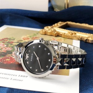 PINKO Women's New LICIS Rivet Steel Band Quartz Watch