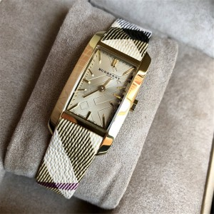 Burberry Women's Genuine Leather Strap Quartz Square Watch BU9509