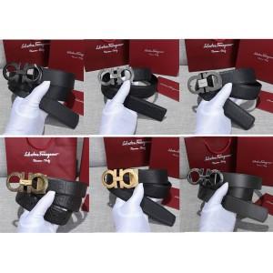 Ferragamo double-sided adjustable GANCINI belt
