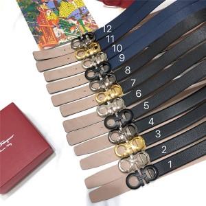 Ferragamo official website men's leather GANCINI 3.5CM belt