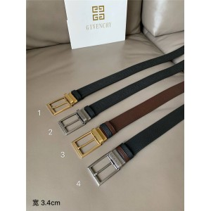 Givenchy men's new embossed leather business casual belt