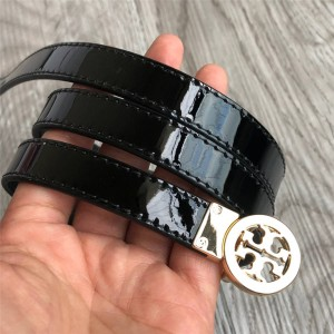 tory burch official website ladies new patent leather 1.5CM belt