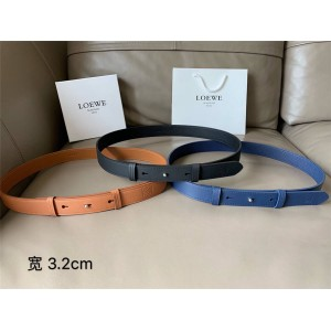 LOEWE new belt leather fashion casual 3.2CM belt