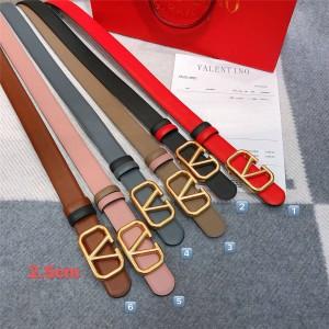 VALENTINO GARAVANI VLOGO official website belt in calfskin (width 25 mm)