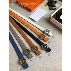 Hermes official website Glenan belt buckle & double-sided leather belt 24 mm
