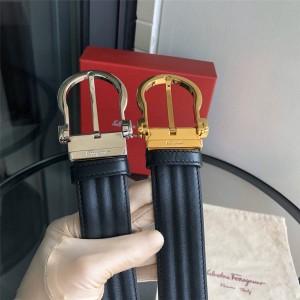 Ferragamo official website men's new 3.5CM wave texture belt