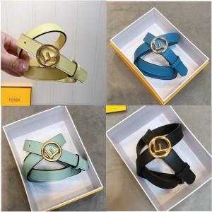 FENDI official website ladies round F buckle leather 2.0CM belt