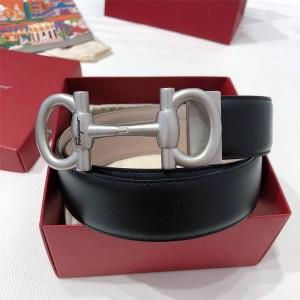 Ferragamo new retro buckle leather 35MM belt