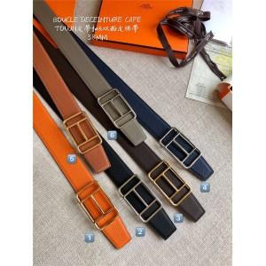 Hermes Men's Cape Town Belt Buckle & Reversible Leather Belt 38mm