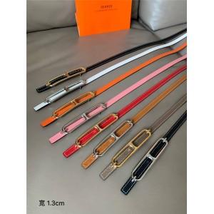 Hermes Women's Roulis Belt Buckle & Reversible Leather Belt 13mm