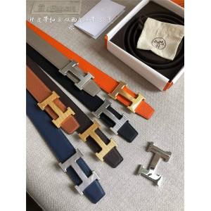 Hermes REVERSIBLE LEATHER STRAP belt 38MM