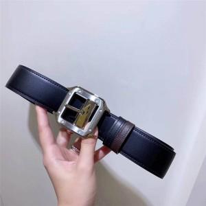 Cartier men's double-sided calfskin SANTOS belt