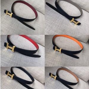 Hermes Mini Constance Belt Buckle & Reversible Leather Belt 24mm