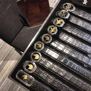 STEFANO RICCI official website men's crocodile skin owl 3.8 belt