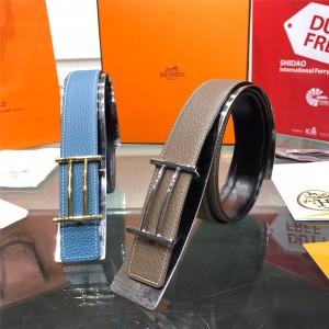 Hermes new Rider belt buckle & leather belt 32mm