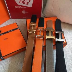 Hermes Men's Royal H Belt Buckle & Reversible Leather Belt 38mm