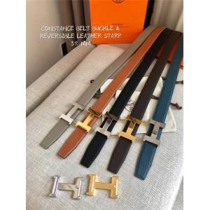 Hermes official website unisex belt Constance 32mm belt