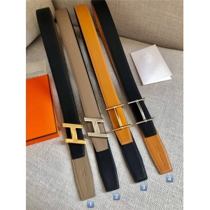 Hermes men's H d'Ancre belt buckle & reversible leather belt 38mm