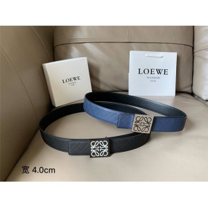 LOEWE men's new double-sided leather Anagram belt