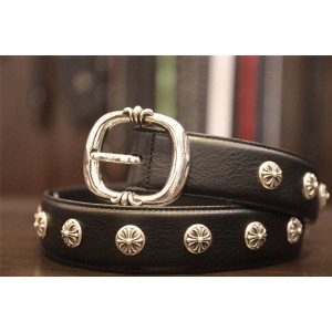 Chrome hearts CH official website pin buckle cross round nail belt