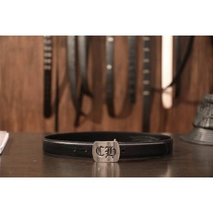 Chrome hearts CH sterling silver flat letter belt