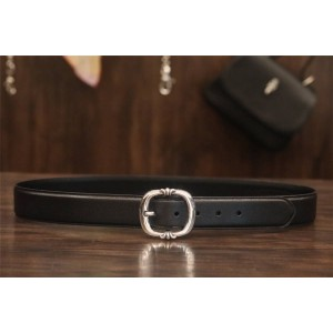 Chrome hearts CH men and women round pin buckle belt