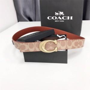 coach presbyopia C buckle classic logo double-sided ladies belt 31114