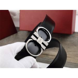 Ferragamo Men's Classic Horseshoe Buckle 3.5CM Belt